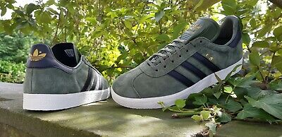 Adidas Originals Mens Gazelle Fashion Trainers Green Black BNIBWT Sizes UK 6 -11