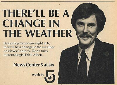 1973 WTEN TV NEWS AD~DICK WOOD REPORTER in ALBANY,NEW YORK