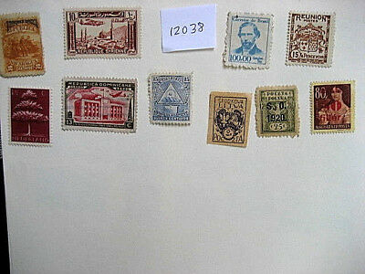 Mint stamps from around the world  Lot # 12038  Poland, Dominica, Reunion, Syria