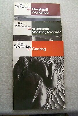 Lot Of 3 Fine Woodworking Books Small Workshop Making Modifiying Machine Carving