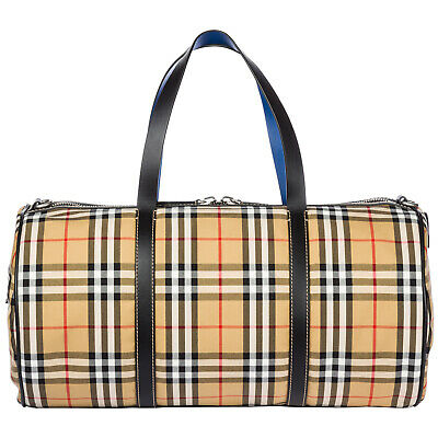 Burberry Borsone Viaggio Borsa Tracolla Weekend Nuovo Kennedy Marrone 220