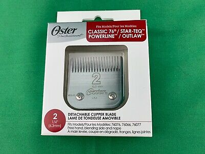 Oster Detachable Clipper Blade 2  Fit Model Classic 76/Star-Teq & Powerline/