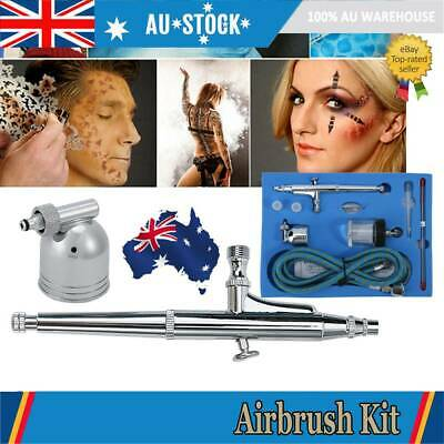 Dual Action Airbrush Kit Air Brush Spray Gun 7CC /22cc Ink Cups Paint Art