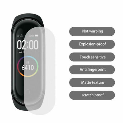 10Pack For Xiaomi Mi Band 4 Tempered Glass Screen Protector Film HD Broken-proof