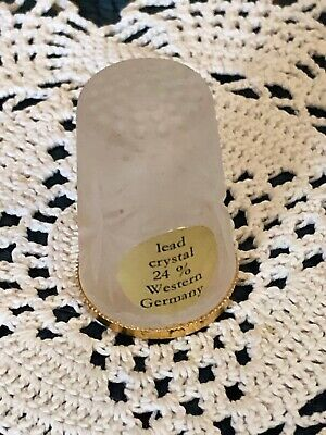 Thimble Lead Crystal 24% West Germany
