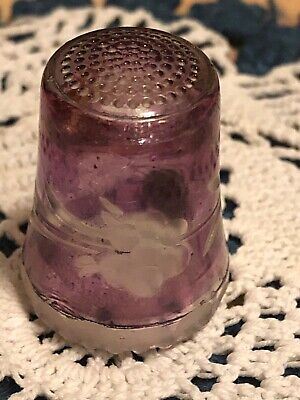 Thimble Purple Glass Made In Western Germany