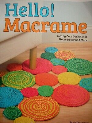 Crafts & Hobbie P/B Book - MODERN MACRAME - 13 Projects Knots Instructions etc