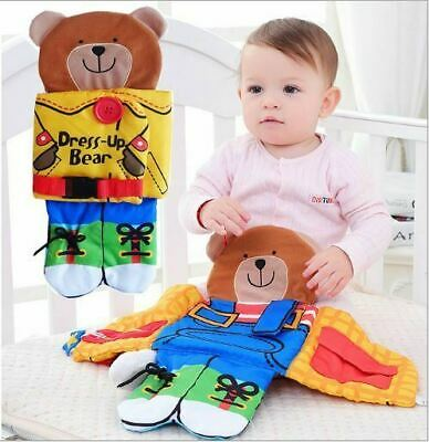 Dress up bear cloth tie shoelace kid children toddler educational toy gift