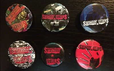 Swinging Utters Button Set (6 St.) Punk SF NOFX Punkrock 5 Lessons Learned