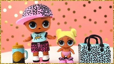 LOL Surprise BIG+LIL SCRIBBLES Brother Boy Little Sisters 2 Dolls Lot~New Sealed