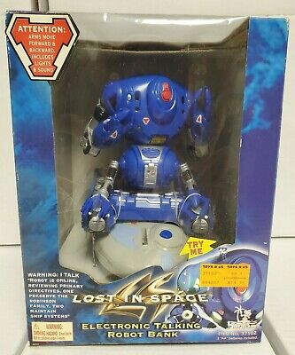 LOST IN SPACE ROBOT Electronic Talking Bank 1998 Toy Island NEW SEALED