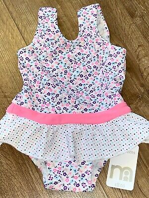 Girls Age 3-6 Months Swim Swimming Costume Mothercare Floral Pink White New