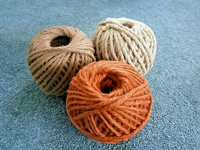Skeins Heavy Twine (3) Cord Rustic Colors for Macrame Crafting Wrapping