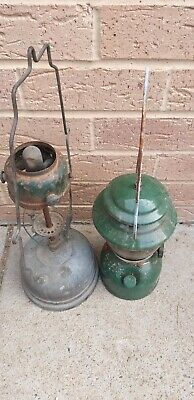 Two antique gas light with handles