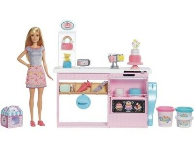 Barbie Playdoh Cake Decorating Playset Includes Doll And Accessories