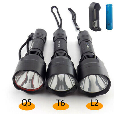 L2 T6 Q5 Led Flashlight 18650 Flash Light lamp Torch Bright Tactical Linterna