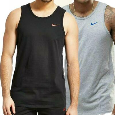 Nike Mens Vest Top Logo Sports Work Out Gym Active Wear Tank Top