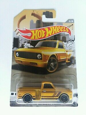 2016 Hot Wheels Rad Trucks Series Custom '69 Chevy Pickup Yellow # 2/8