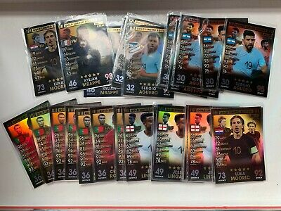 MATCH ATTAX 101 2019 Limited Edition Bronze Silver Gold 2018 NEW MBAPPE AGUERO