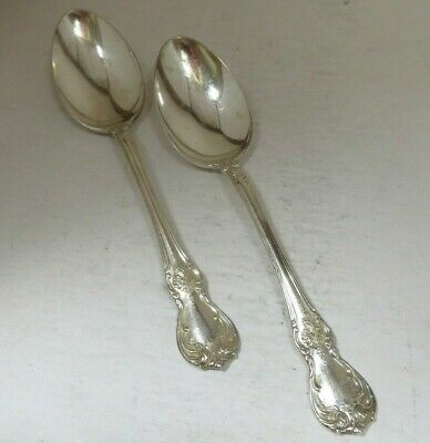 """Set Of 2 Towle """"Old Master"""" Sterling Silver Teaspoon 5-7/8"""" No Monogram"""