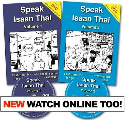 Learn to Speak Isaan Thai Course Vol 1 + 2: Book, DVD, Online Video (50% OFF)