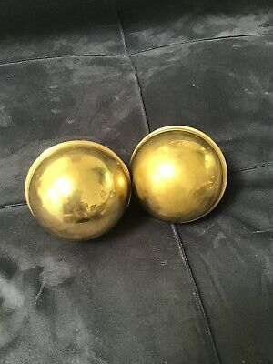 Antique One pair of  Brass Curtain Drapery Finials.