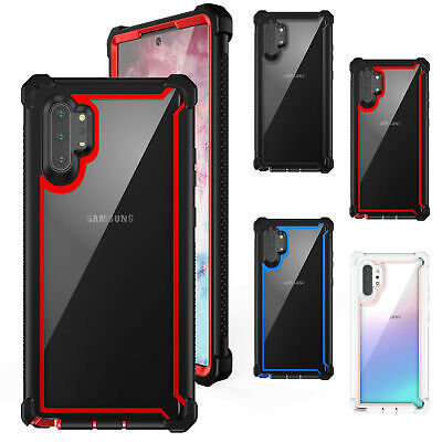 For Samsung Galaxy Note 10 Plus Case Shockproof Hybrid Rubber Clear Slim Cover
