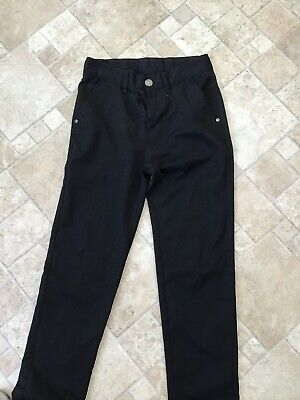 Next Boys Aged 13 Yrs Slim Black School Trousers - Jeans Style
