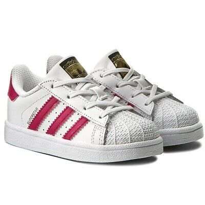 ENFANT FILLE ADIDAS Originaux Superstar Baskets Blanc BB9077
