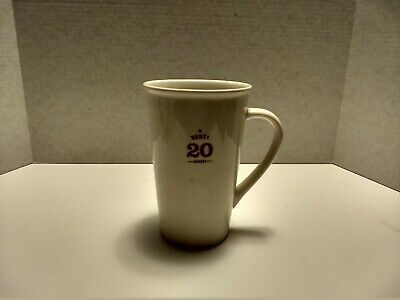 "2010 STARBUCKS Venti 20 Oz White Ceramic Coffee Mug 6 1/8"" Tall Est.1971 RETIRED"