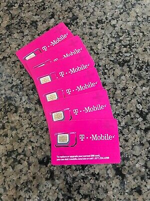 NEW T-Mobile 4G LTE Sim Card Tmobile 3 IN 1 TRIPLE CUT.
