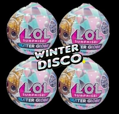 Lot of 4 LOL Surprise Series 6 WINTER DISCO GLITTER GLOBE DOLLS OMG  in hand