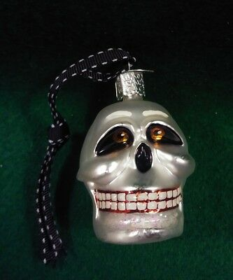 OWC Skull Halloween Ornament Skeleton Old World Christmas w Tag