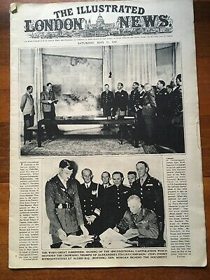 The Illustrated London News May 12 1945 Vintage Newspaper WW2 Collectible