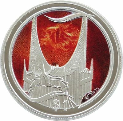 2003 New Zealand Lord of Rings Eye of Sauron $1 One Dollar Silver Proof Coin