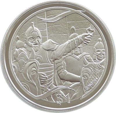 2003 New Zealand Lord of the Rings Theodon Rides $1 One Dollar Silver Proof Coin