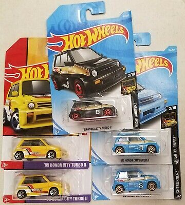2019 Hot Wheels '85 HONDA CITY TURBO various  ~ Lot of 5