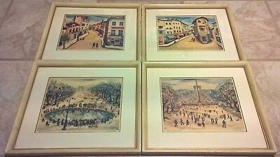 """1956 Vintage TOULOUSE /""""TRACE HORSE OF OMNIBUS COMPANY/"""" COLOR offset Lithograph"""