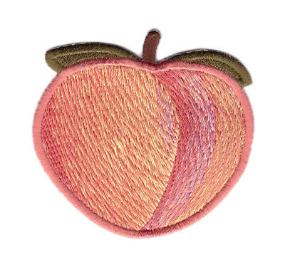 Peach Fruit Cartoon Emoji Booty Punk Jacket Decorative Girl Patch