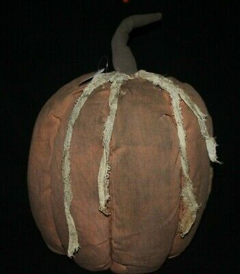 New Large 12'' High  Primitive Country Farmhouse Grungy Pumpkin Home Decor