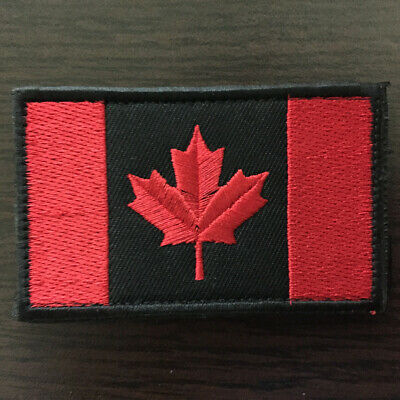 CANADA FLAG  ARMY MILITARY 3.0 INCH TACTICAL COMBAT HOOK LOOP CANADIAN PATCH