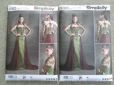 Simplicity Sewing Pattern 8363 Misses Fantasy Ranger Costume