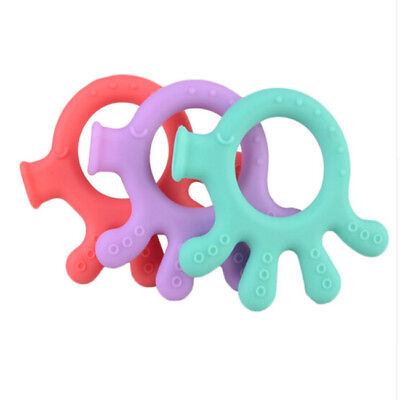 Interested Octopus Styles Toddler Teether Silicone Chew Toys Teeth Stick