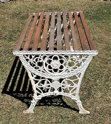 Vintage cast iron Garden Table with slats in excellent condition