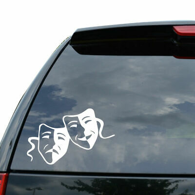 DRAMA MASK THEATER COMEDY TRAGEDY Decal Sticker Car Truck Motorcy