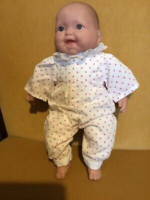 Berenguer Extremely Realistic Cloth & Vinyl Baby Doll Blue Eyes 32cm Tall  VGC