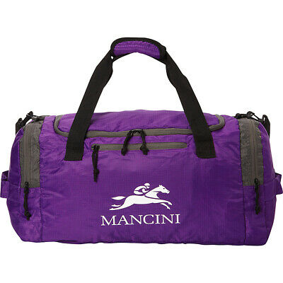 Mancini Leather Goods Travel Packable Duffle Bag 3 Colors All-Purpose Duffel NEW