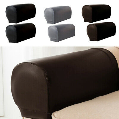 2pcs Set Pu Leather Sofa Armrest Covers For Couch Chair Arm