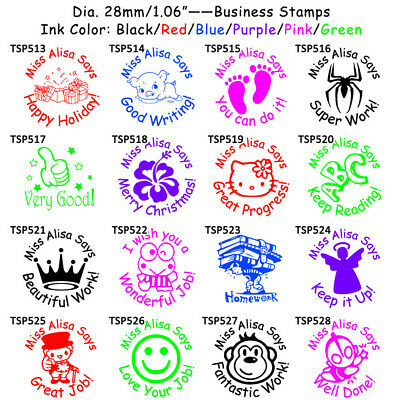 Personalized Custom Teacher Stamps LOGO Name Craft Handmade School Stamper Seal