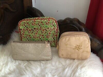 3 X Travel Make Up Toiletries Wash Bags M&S Impulse & Next. Unused Holiday Item